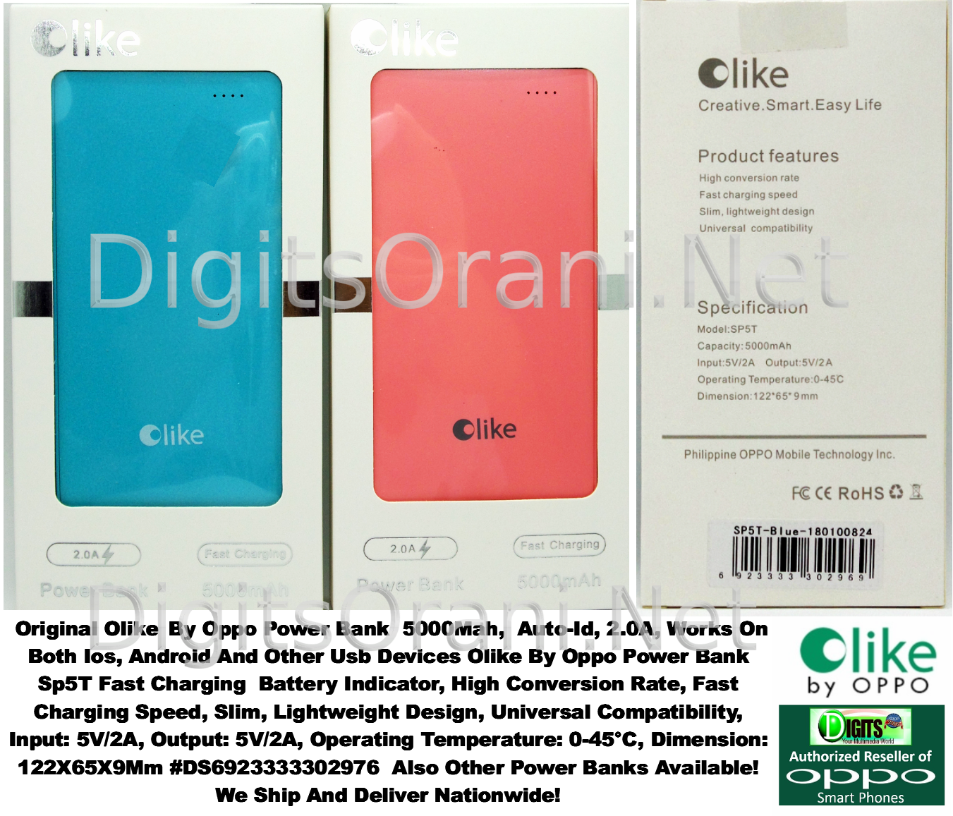 Original Olike By Oppo Power Bank 5000mah Auto Id 20a Works On Powerbank Xiaomi Slim 5000 Mah Ori Touch To Zoom