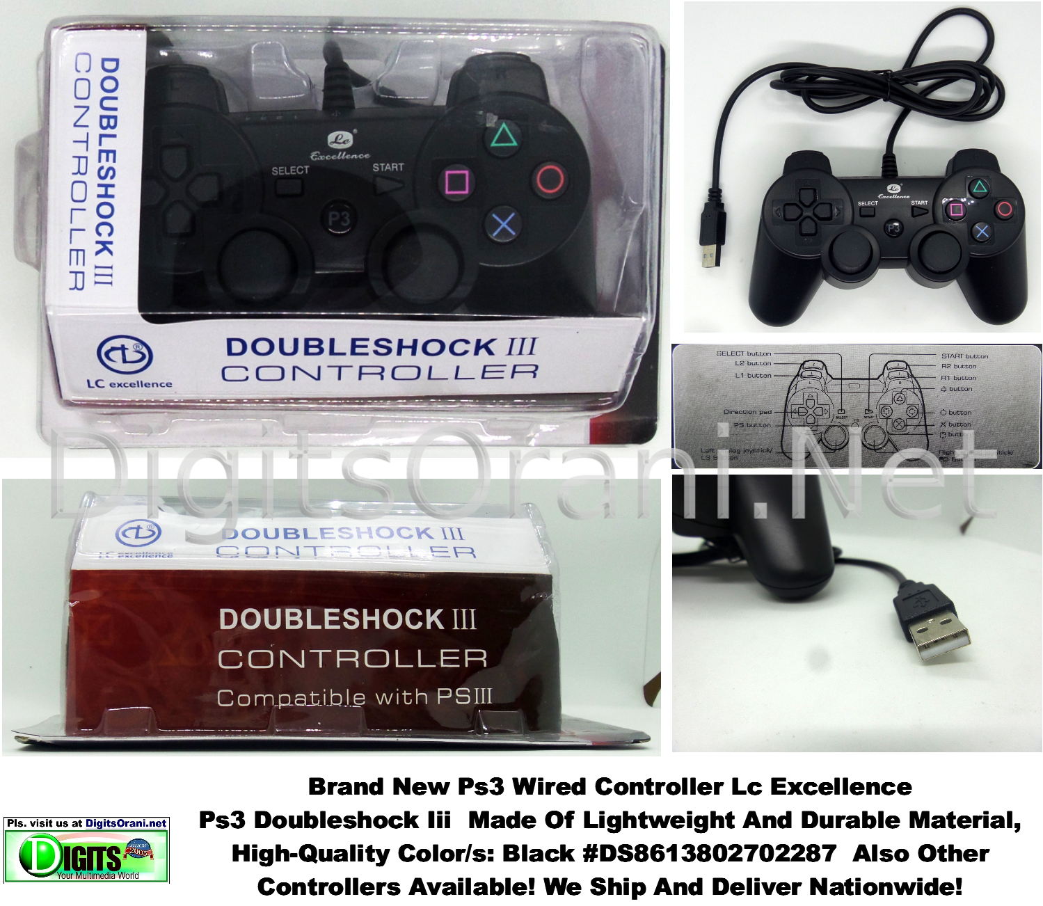 Controller / Ps3 wired / Lc Excellence Doubleshock Iii Made Of ...