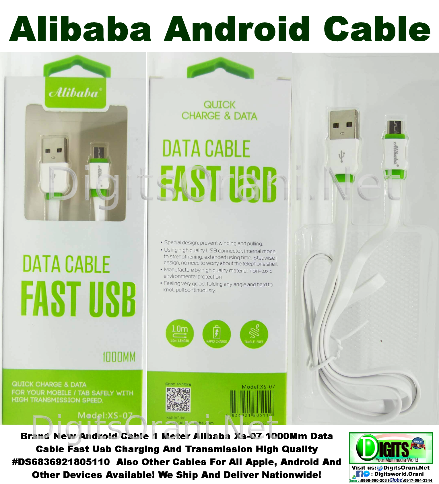 Android Data And Charging Usb Cable 1 Meter Alibaba Data Cable Fast Usb  Xs-07 Data Cable Fast Usb Charging And Transmission High Quality