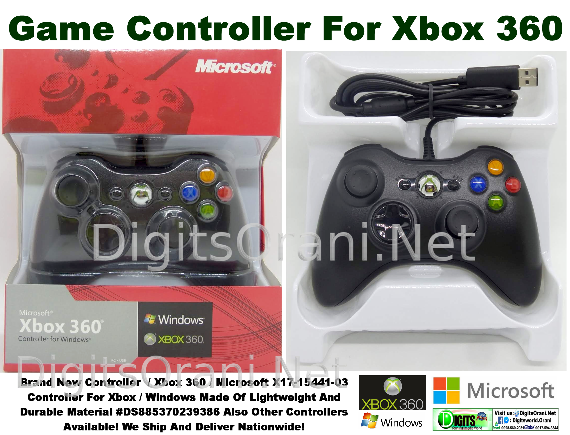 Controller For Xbox / Windows Microsoft X17-15441-03 Made Of Lightweight  And Durable Material #Ds4804567924290