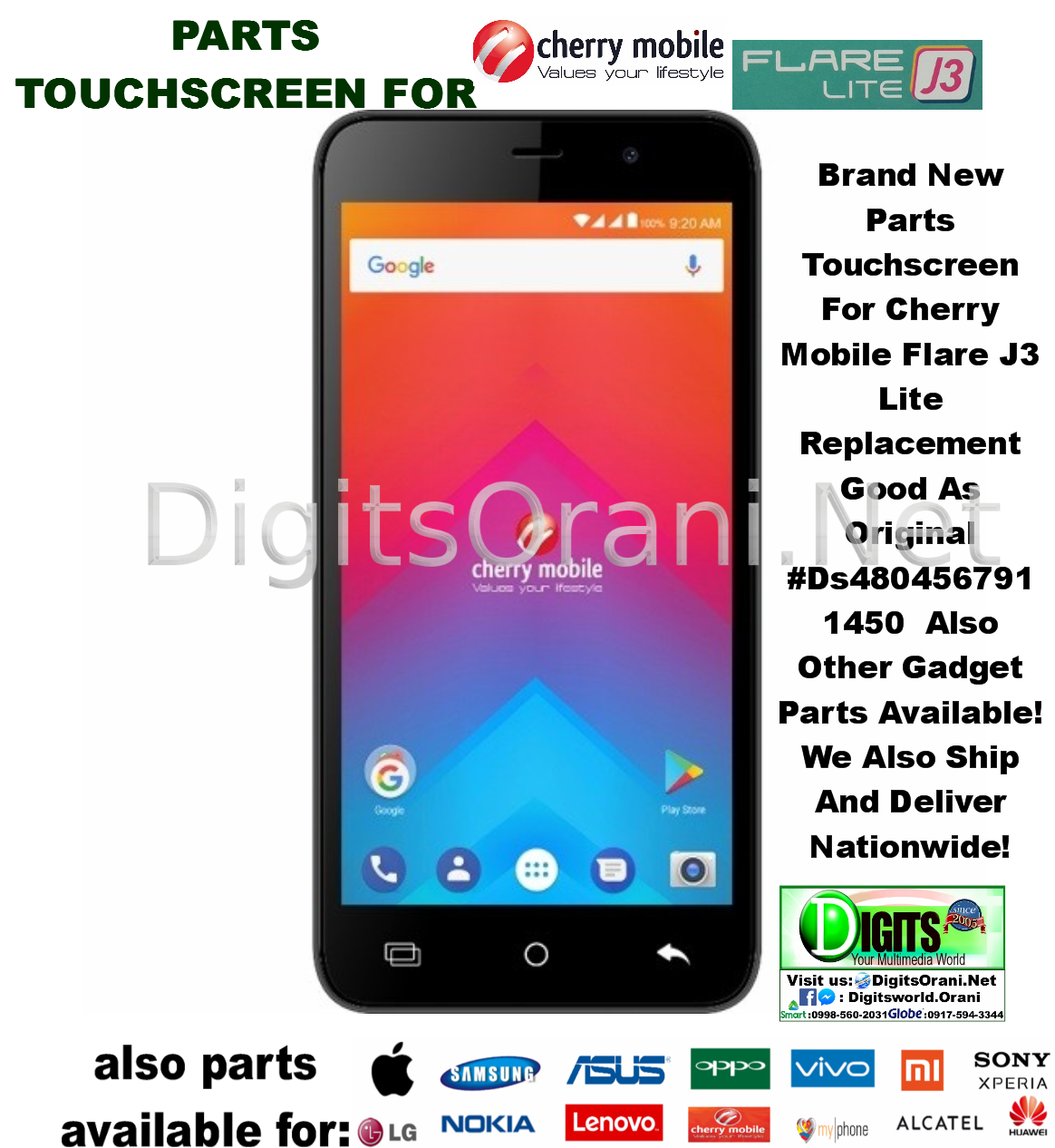 Parts Touchscreen For Cherry Mobile Flare J3 Lite Replacement Good Lcd Asus Zenfone 6 Original Touch To Zoom