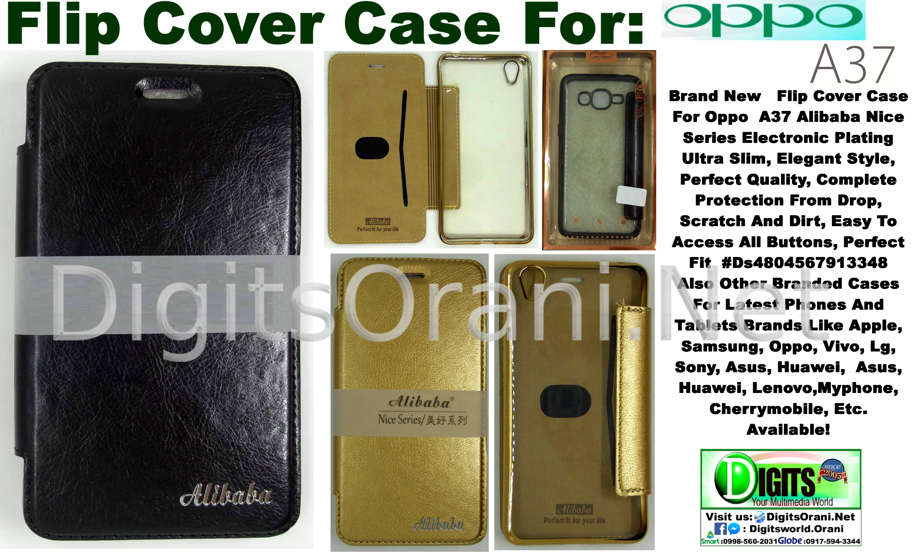 Flip Cover Case For Oppo A37 Alibaba Nice Series Electronic Plating Ultra  Slim, Elegant Style, Perfect Quality, Complete Protection From Drop,  Scratch