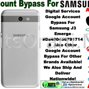 How To Bypass Google Verification On A Samsung J3 Emerge