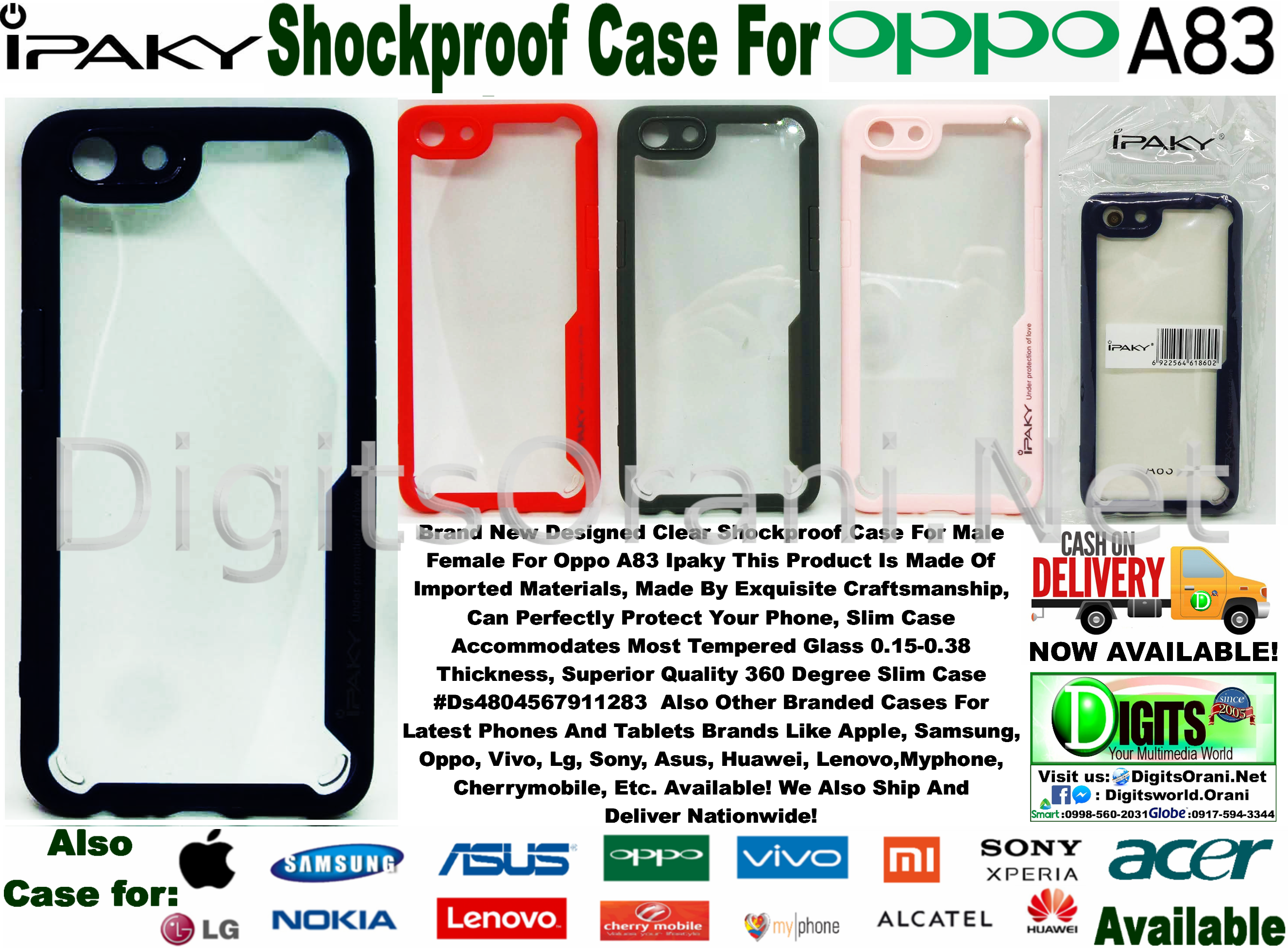 Designed Clear Shockproof Case For Male / Boy & Female For Oppo A83 Ipaky  This Product Is Made Of Imported Materials, Made By Exquisite  Craftsmanship,
