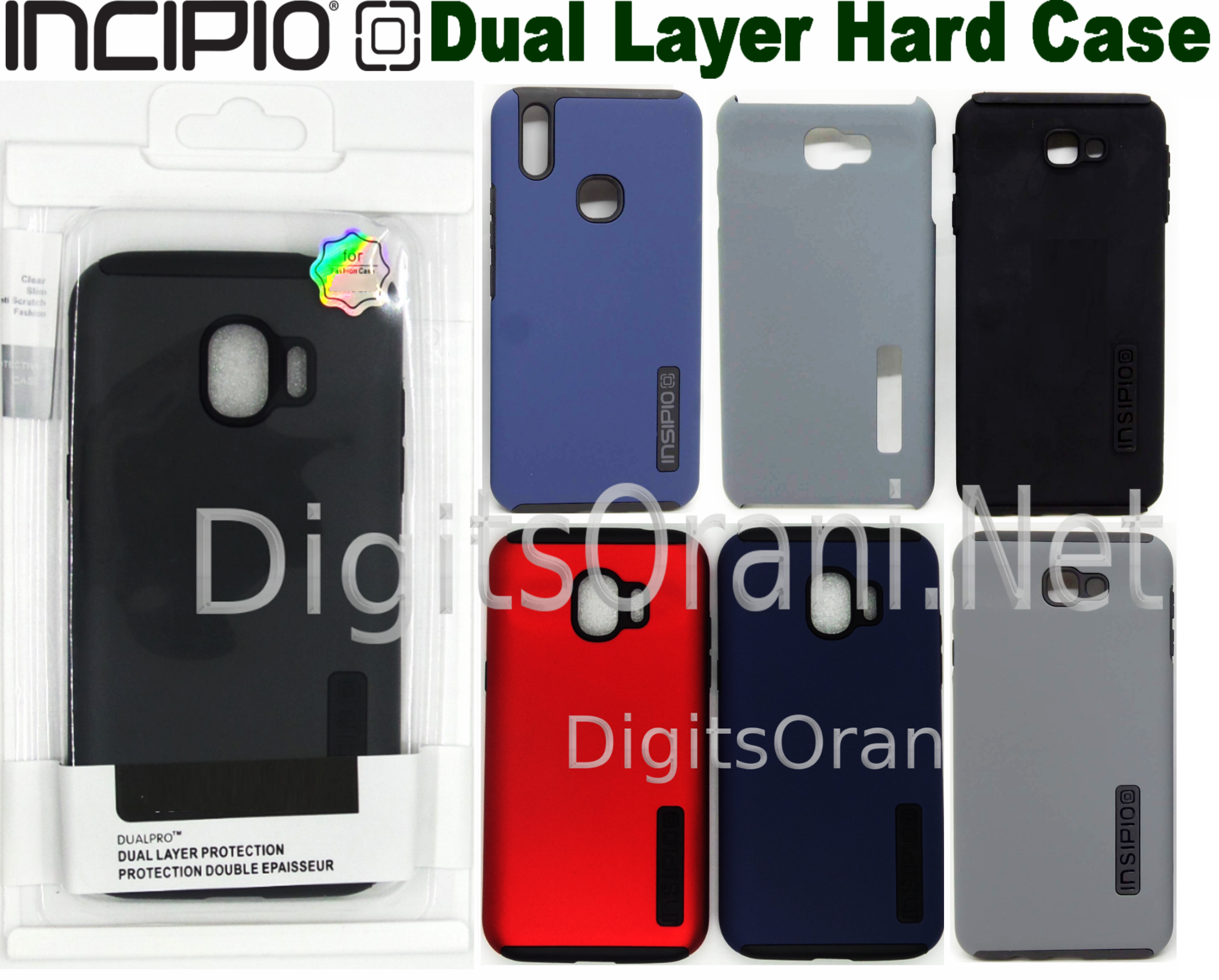 Dual Layer Incipio Case For Male / Boy & Female For Oppo A3S / A5 Complete  Protection From Drop, Scratch And Dirt, Easy To Access All Buttons, Perfect
