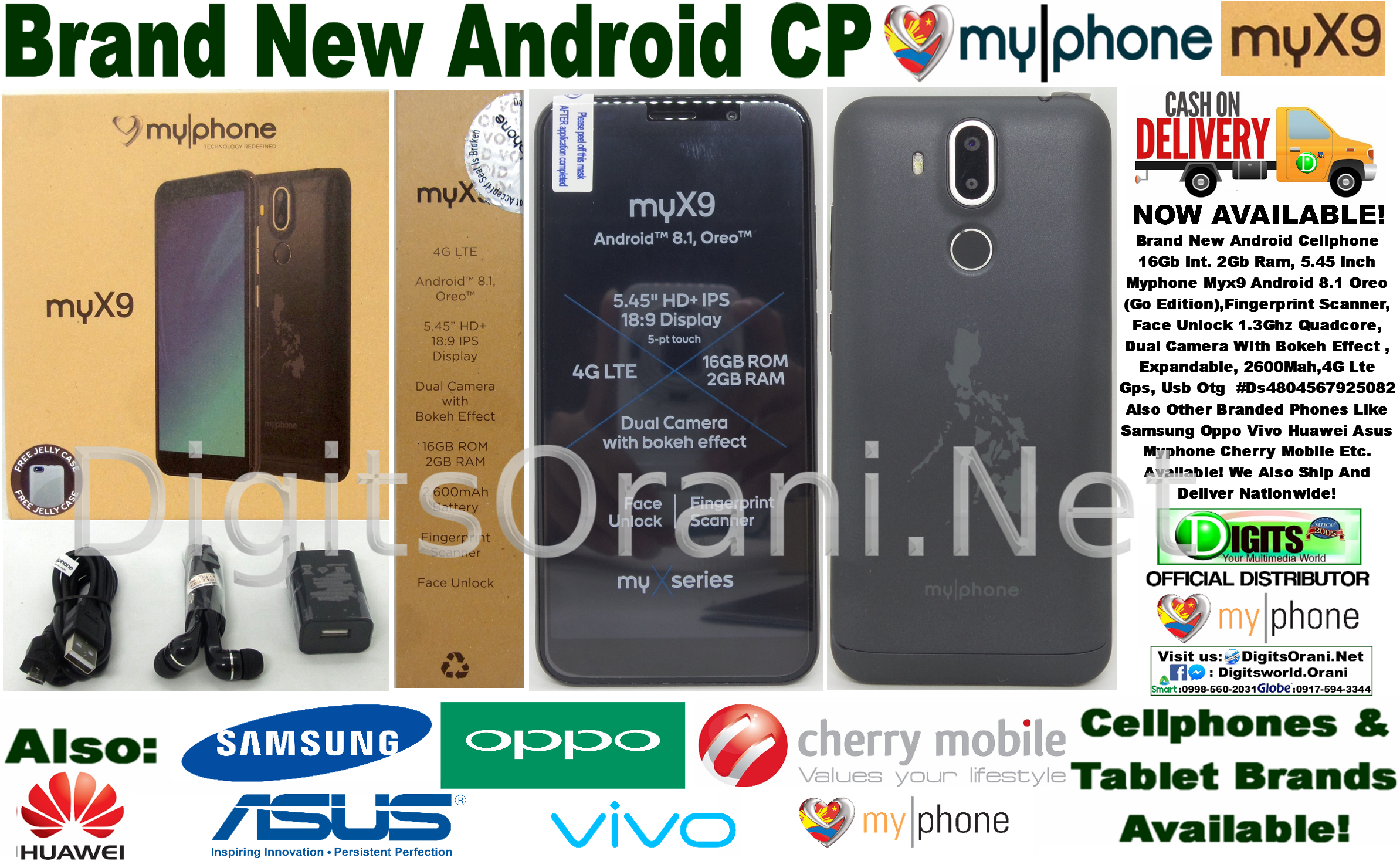 Android Cellphone 16Gb Int  2Gb Ram, 5 45 Inch Myphone Myx9 Android 8 1  Oreo (Go Edition),Fingerprint Scanner, Face Unlock 1 3Ghz Quadcore, Dual