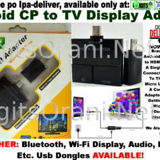 Adapter Adaptor Android To Tv Display Mhl To Hdmi Screen Cast, Use A Single  Thin Adapter To Connect The Mobile Device Ti The Hdtv, Connect Micro Usb