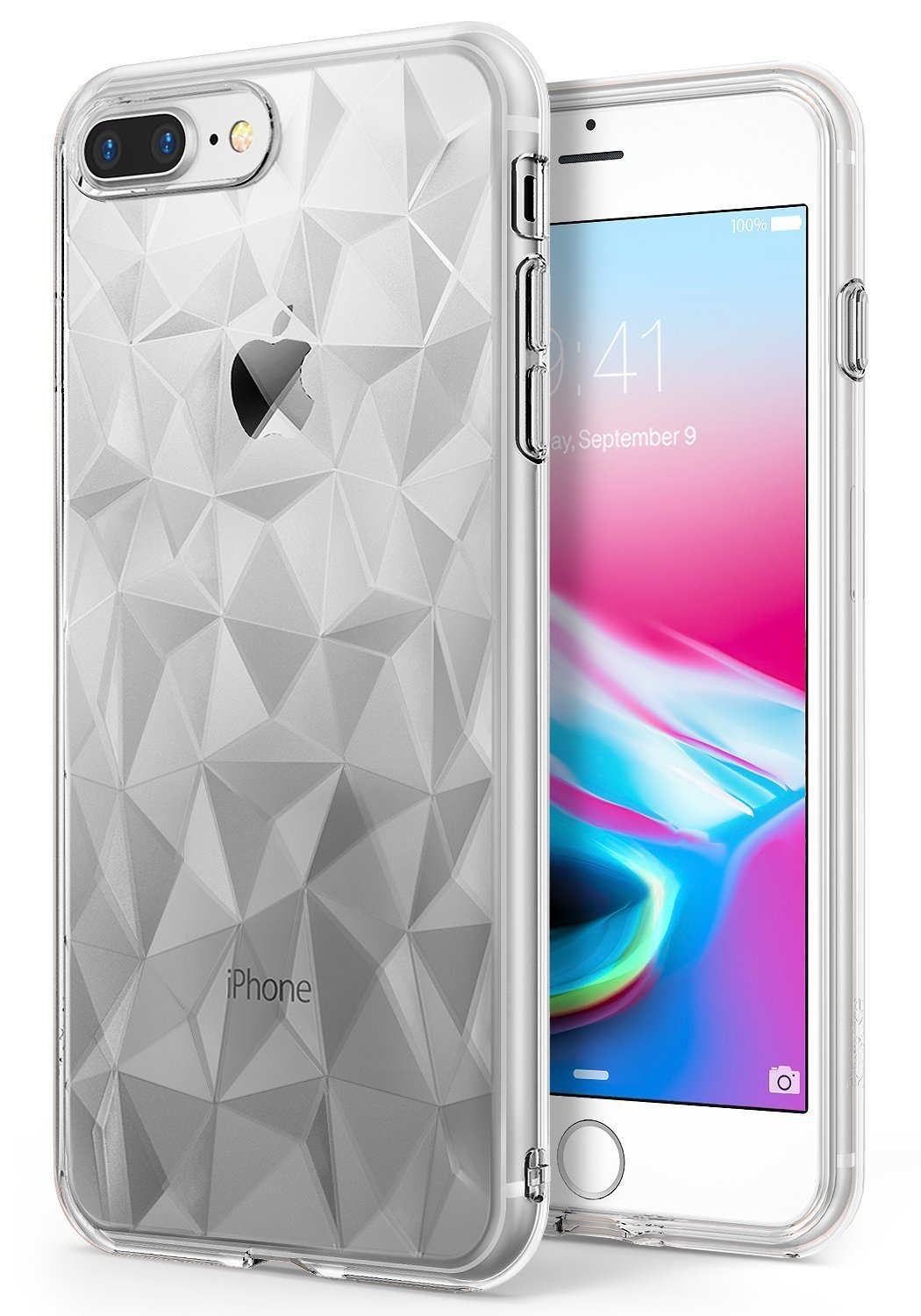 Clear Shockproof Case Prism Design For Male Female For Oppo A3S / A5  Shockproof, Shatterproof Glass,Protects Your Phone From Dirt,Dust,Drops &  Scratch