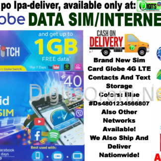 Sim Card Globe 4G Lte Contacts And Text Storage #Ds4801234566807
