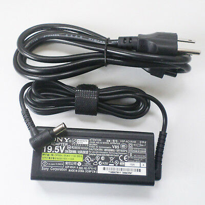 FOR SONY Vaio NEW 19.5V Power Supply Cord Laptop Notebook AC Adapter Charger CP